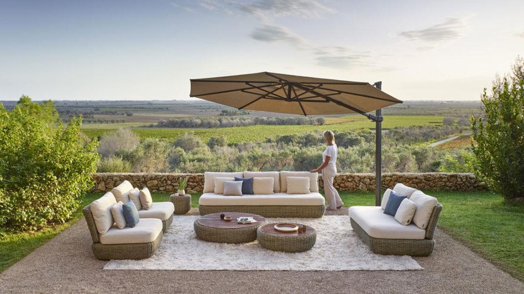 Salon Outdoor et parasol déporté Jardinico